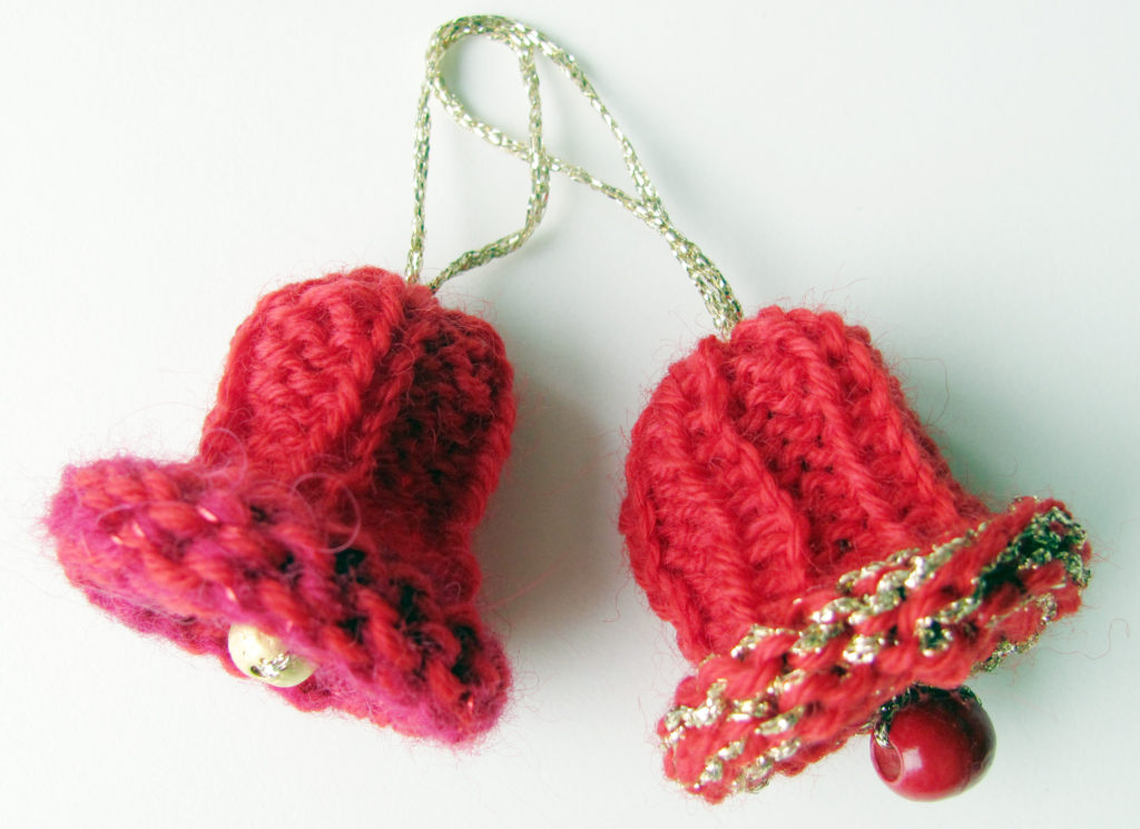 Knitting Pattern Christmas Bells : Knitted bell for Christmas tree - Knit & Crochet Christmas