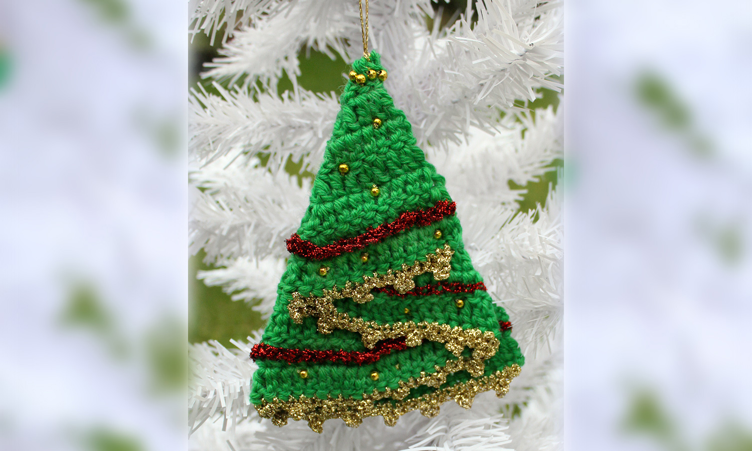 crochet christmastree decoration knit crochet christmas. Black Bedroom Furniture Sets. Home Design Ideas
