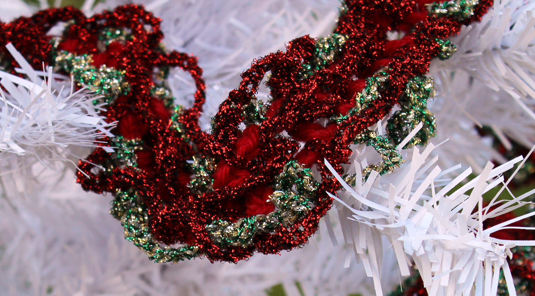 Crochet Christmas Garland Videotutorial Knit Crochet Christmas