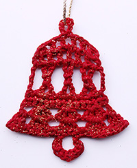 Crochet christmas tree decoration knit crochet christmas for Knitted christmas bells