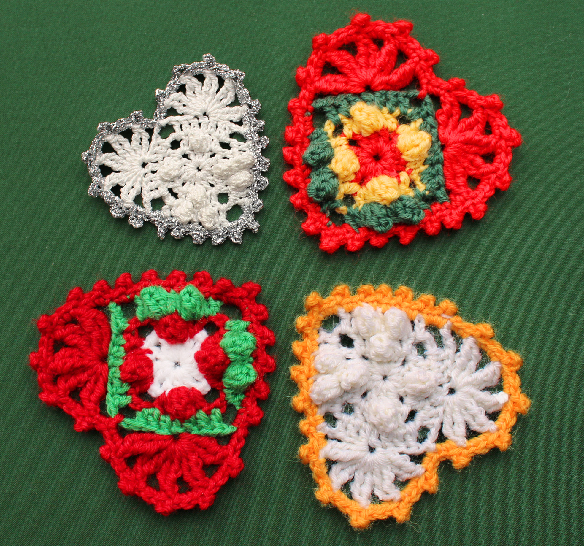 Decorate With Crochet Hearts Knit Christmas Heart Shape Pattern Diagram 4