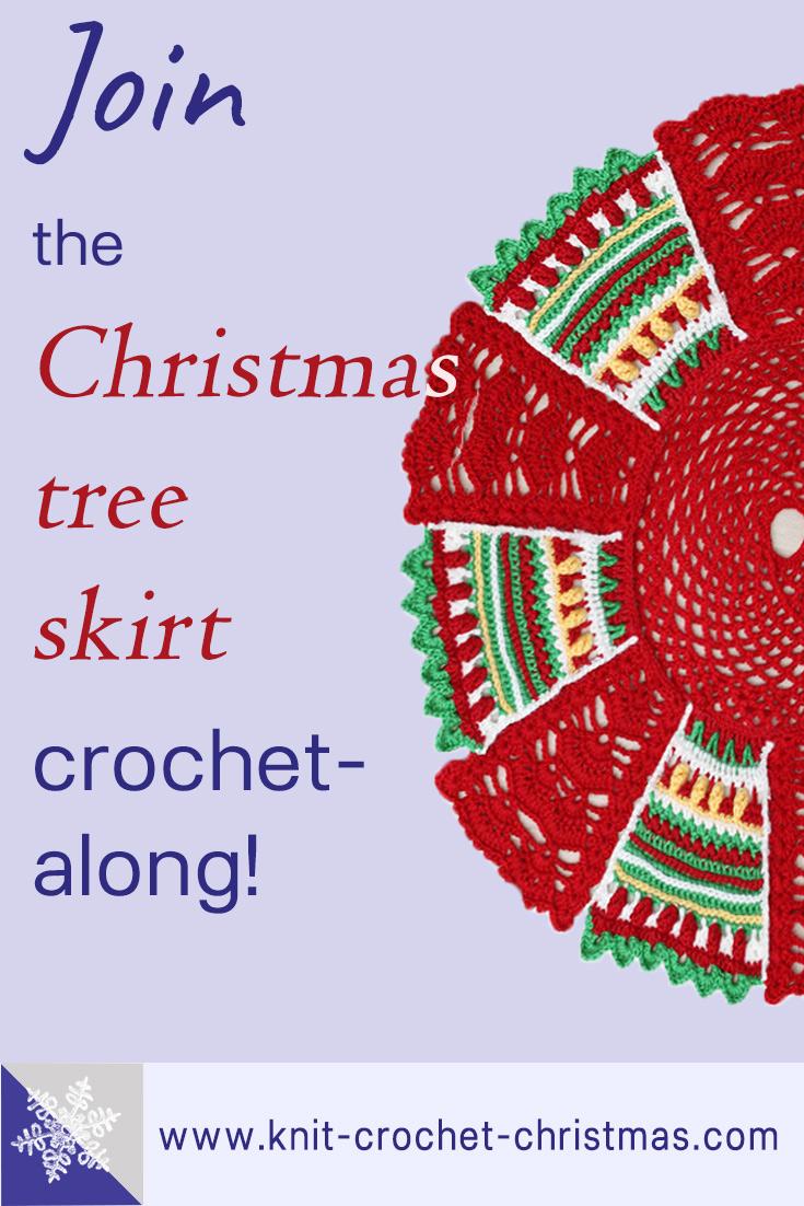 Crochet Christmas tree skirt crochet-along CAL