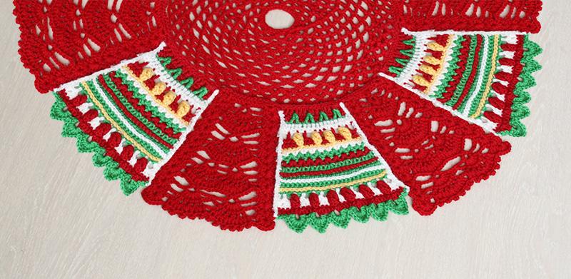 Christmas tree skirt crochet-along CAL