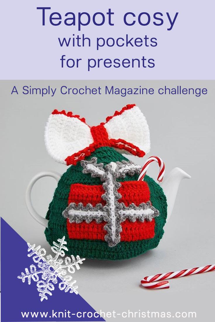 Christmas crochet teapot cosy designer challenge at Simply Crochet magazine