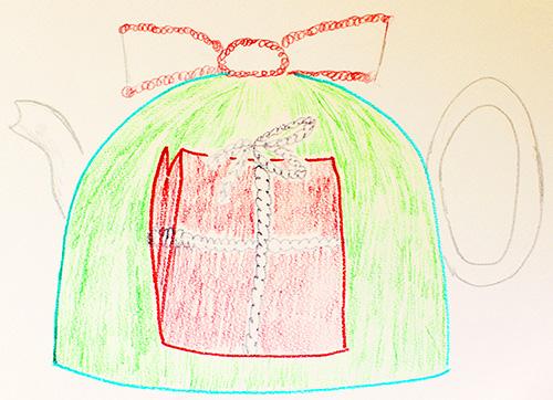 Crochet Christmas teapot cosy