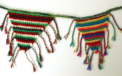 Crochet bunting from left-over yarn