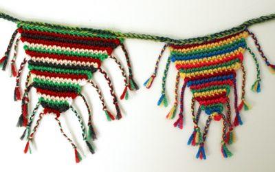 Crochet bunting from left-over yarn