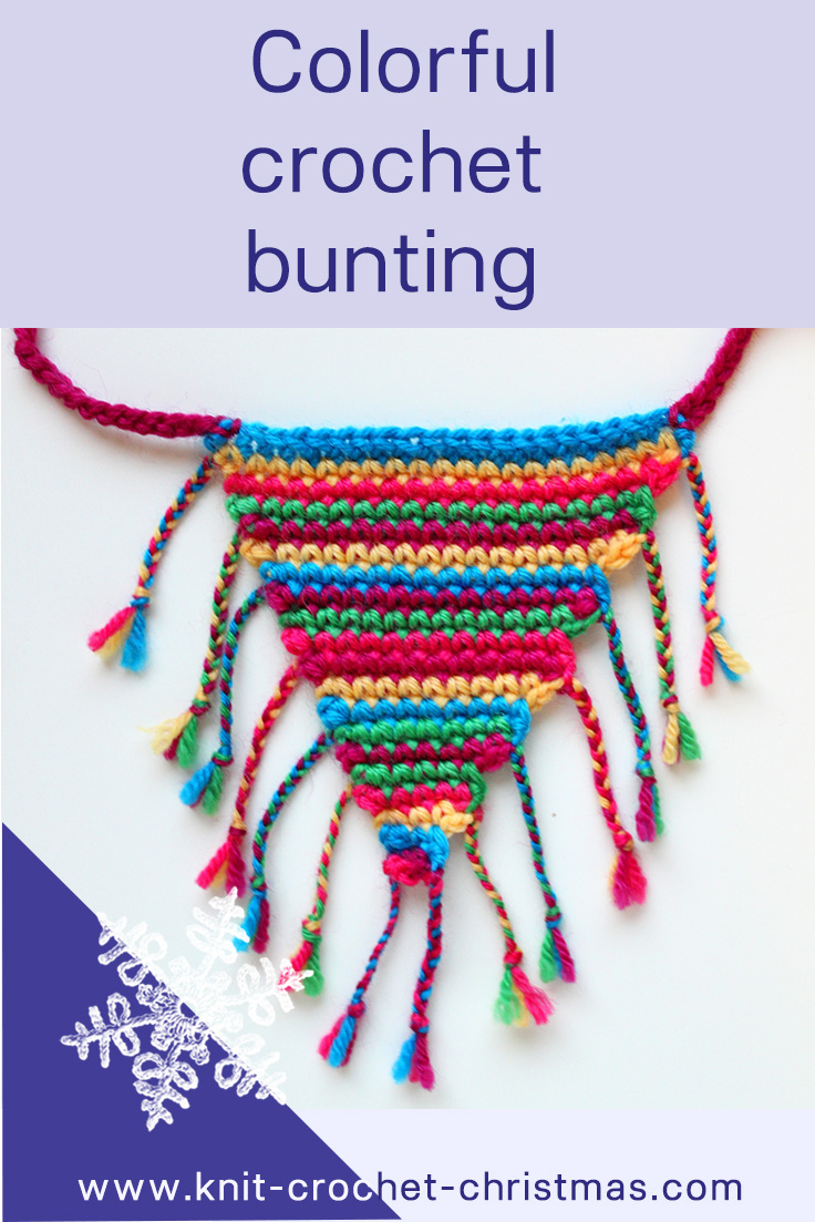 Pinterest image for crochet bunting instructions