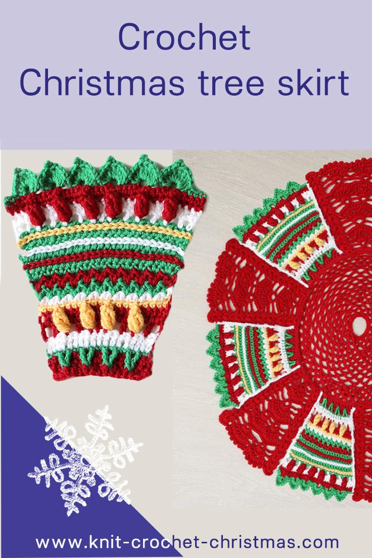 Crochet Christmas tree skirt instructions