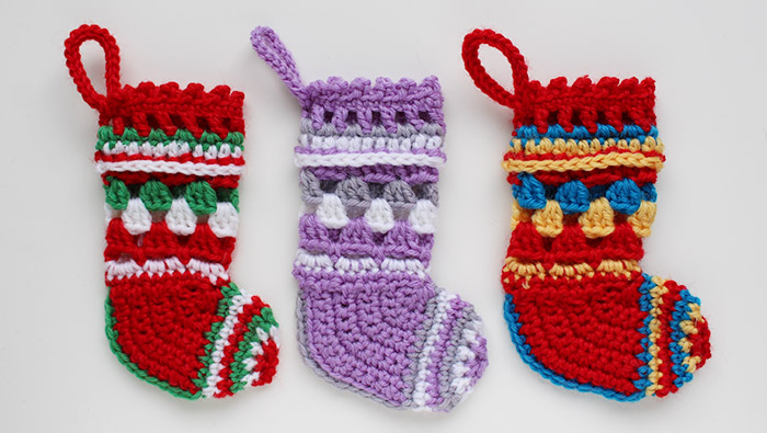 Crochet Christmas stockings