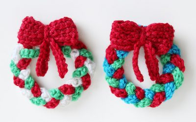 Crochet a mini wreath decoration