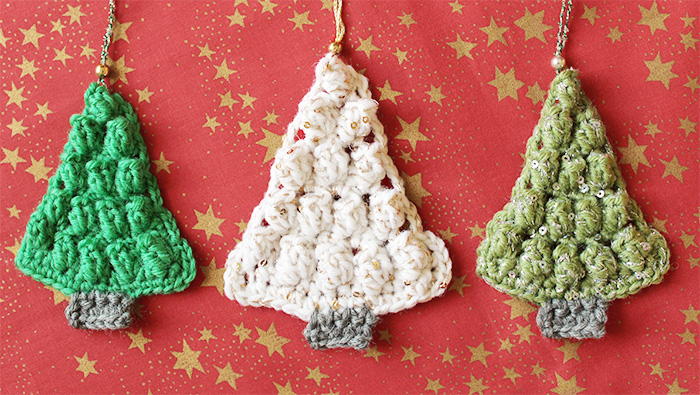 Crochet a Christmas tree shaped ornament