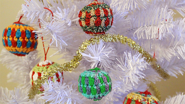 Crochet Christmas tree balls