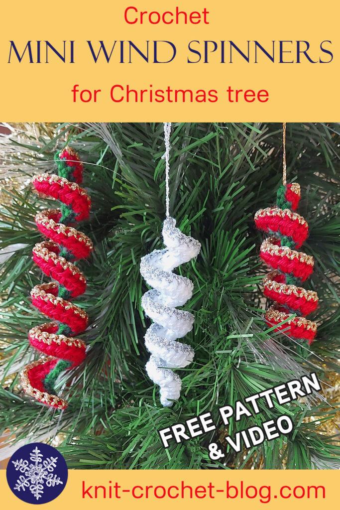 Mini wind spinner Christmas tree ornament